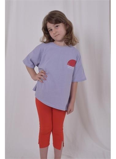 iandb Eskitme Baskılı Unisex Çocuk Tshirt  Alessia Lila